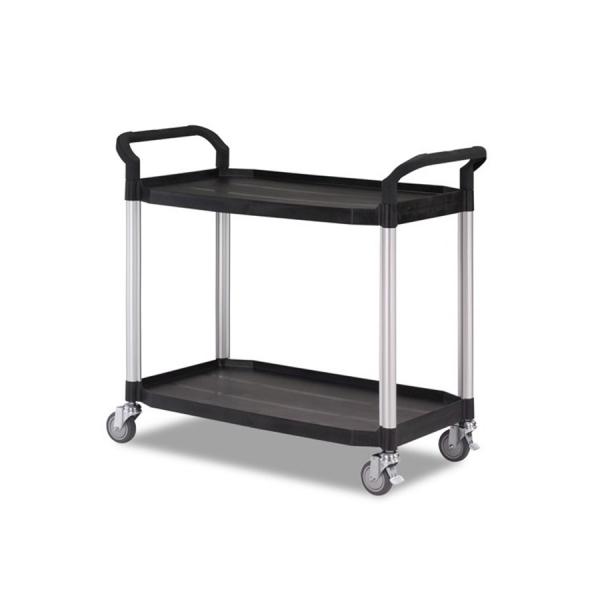 Chariot en aluminium XL 2 plateaux