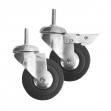 Roulettes pivotantes 75 mm
