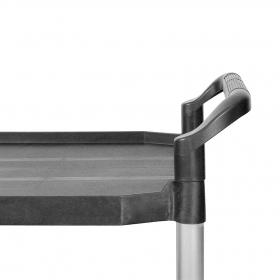 Chariot en aluminium L plateaux - Détails poignée