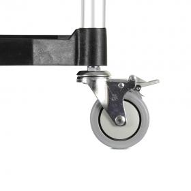 Chariot en aluminium avec plateaux - Détails roulette