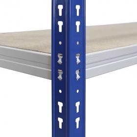 Rayonnage C-Max 200 bleu et gris tablette aggloméré
