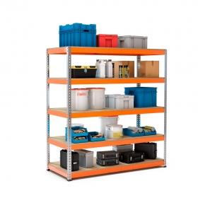 Rayonnage Maxplus galva et orange