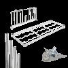 Composants en acier chromé